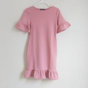 Pink Ruffle Shift Dress Size 6